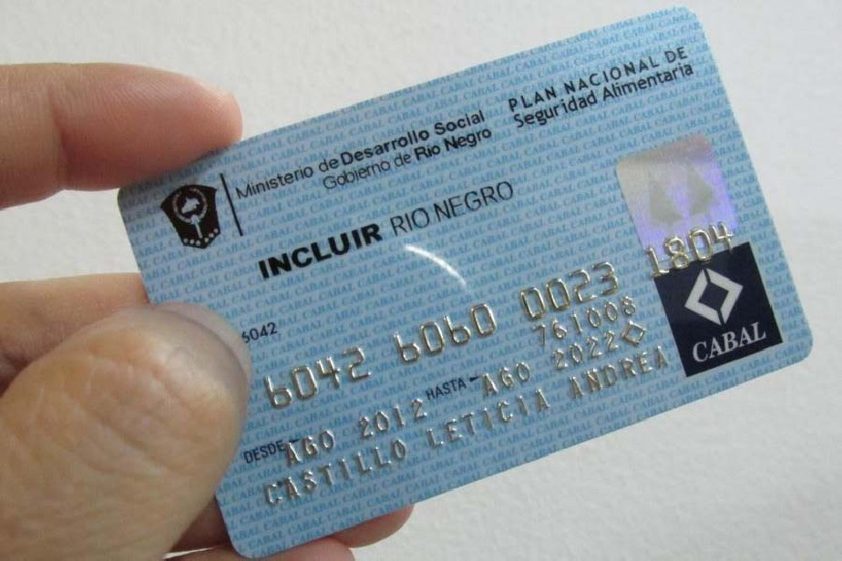 """Resultado de imagen para tarjetas sociales """"Incluir Río Negro"""""""