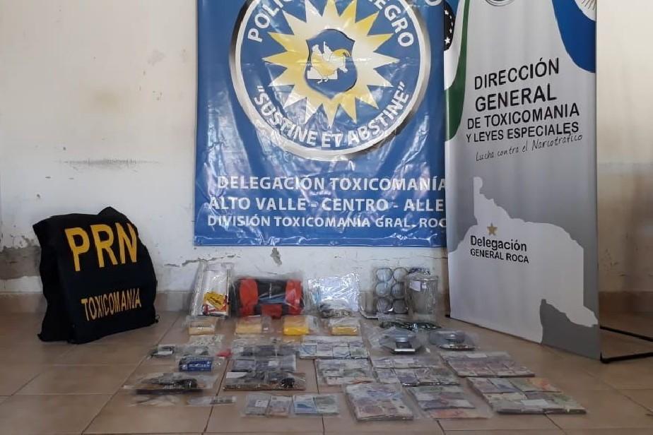 Otro fuerte golpe al narcotráfico en General Roca