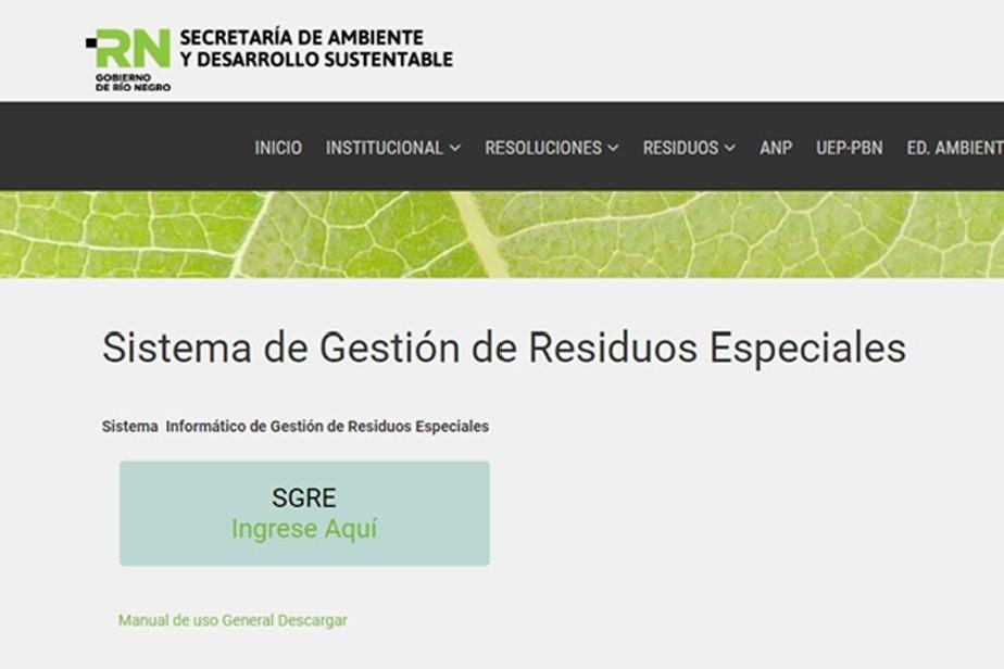 Río Negro habilita nuevo sistema para controlar los residuos especiales