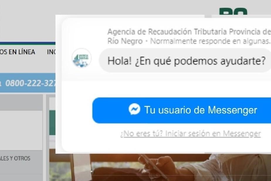La Agencia de Recaudación habilitó el chat de Messenger para atención al contribuyente