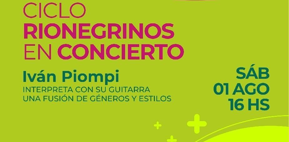 Imagen-Iván Piompi presenta su música en el ciclo Rionegrinos en Concierto