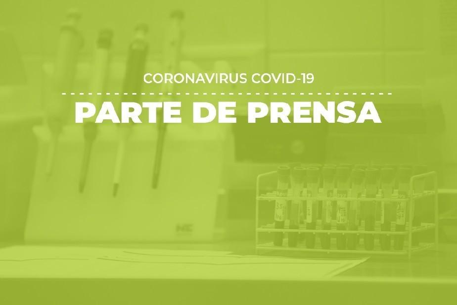 COVID-19: Parte de prensa (27/07)
