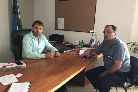 El Jefe de Policía informó al Ministro de Seguridad sobre traslados y planificación para 2018