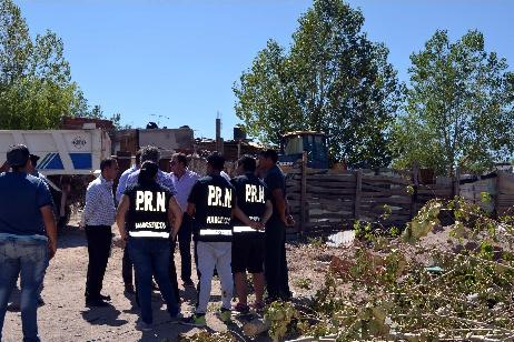 Imagen-Se destruyó un reducto en el que se vendía droga en General Roca