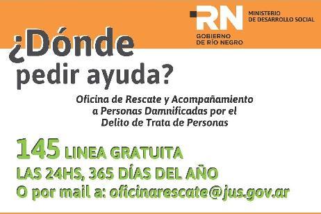Vecinos pueden denunciar casos de trata de personas en la línea telefónica 145